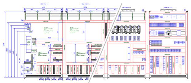 Beispiel für eine Montage- und Bestückungsübersicht aus unserem Standard-Schaltplan